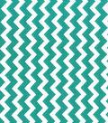 Quilter\u0027s Showcase Cotton Fabric -Chevron Teal/White
