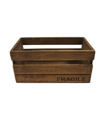 Large Wood Crate Container-Fragile
