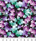 Premium Quilt Cotton Fabric 43\u0022-Translucent Floral Dark Pearl