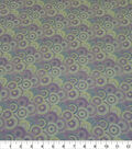 Quilter\u0027s Showcase Cotton Fabric-Lined Circles Lavender Mint