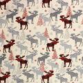 Super Snuggle Flannel Fabric-Patterned Buffalo Check Moose
