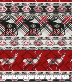 Super Snuggle Flannel Fabric-Pattern Trap Deer Moose In Line