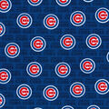 Chicago Cubs Cotton Fabric -Mini Print