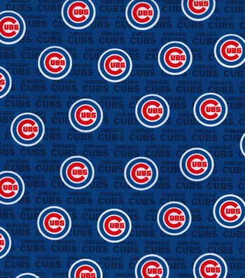 "Chicago Cubs Cotton Fabric 58""-Mini Print"