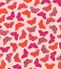 Valori Wells Cotton Fabric-Butterflies Raspberry Voile