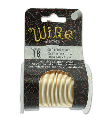 Tarnish-Resistant Wire 10yd-Gold 18g