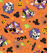 Disney Mickey & Minnie Halloween Cotton Fabric -Feelin' Spooky, , hi-res