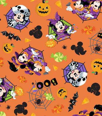 "Disney Mickey & Minnie Halloween Cotton Fabric 43""-Feelin' Spooky"