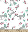 Bride and Groom Print Fabric