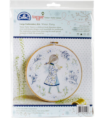 "Tamar Winter Fairy Embroidery Kit-10""X10"""
