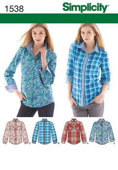Simplicity Pattern 1538R5 14-16-18-2-Misses Tops Vests