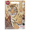 Dimensions 9\u0022x12\u0022 Learn To Paint! Paint By Number Kit-Tiger Cub