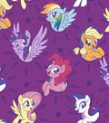 Hasbro My Little Pony Fleece Fabric -Friendship Adventure