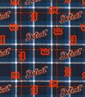 Detroit Tigers Flannel Fabric 42\u0022-Plaid