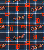"Detroit Tigers Flannel Fabric 42""-Plaid, , hi-res"