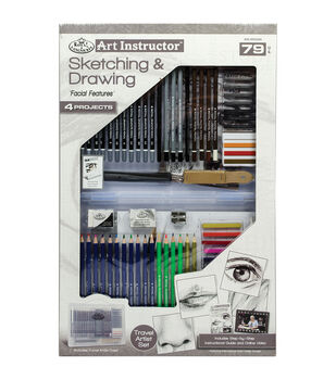 Royal Langnickel Art Instructor 79-Piece Sketching & Drawing Art Set
