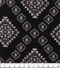 Anti-Pill Plush Fleece Fabric-Sketched Aztec On Black