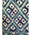 Knit Fabric 57\u0027\u0027-Aqua & Navy Ethnic Diamond