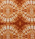 Anti-Pill Fleece Fabric Orange Tie Dye Circle