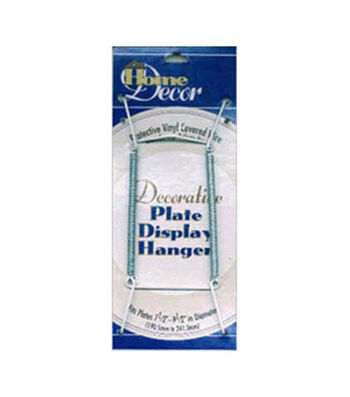 """Decorative Plate Display Hanger Expandable 7-1/2""""-9-1/2""""-White"""