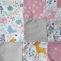 Nursery 3D Quilt Patchwork Fabric-Bear And Friends