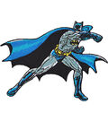 DC Comics Patch-Batman Punching  3.5\u0027\u0027x4.5\u0027\u0027