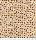 Novelty Cotton Fabric 44\u0022-Tossed Paws, Bones & Love