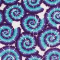 Anti-Pill Plush Fleece Fabric-Purple & Turquoise Tie Dye