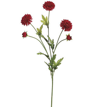 "Bloom Room 28"" Pom Pom Mum Spray-Red"
