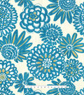 Home Decor 8\u0022x8\u0022 Fabric Swatch-Genevieve Gorder Flower Pops Peacock