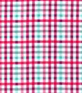 Snuggle Flannel Fabric-Beetroot Aqua Plaid