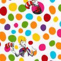 Dr. Seuss Cotton Fabric -Cat & Dots