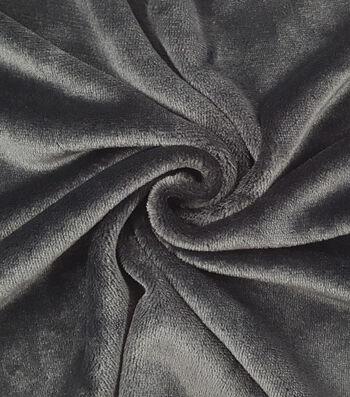 Sew Lush Fleece Fabric -Black Solids