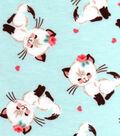 Snuggle Flannel Fabric -Feminine Kitty