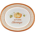 Simply Autumn 8 pk 10\u0027\u0027x12\u0027\u0027 Oval Platters-Pumpkin & Autumn Blessings