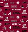 Alabama Crimson Tide 2017 Championship Cotton Fabric 43\u0027\u0027