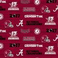 Alabama Crimson Tide 2017 Championship Cotton Fabric