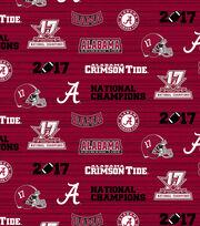 Alabama Crimson Tide 2017 Championship Cotton Fabric 43'', , hi-res