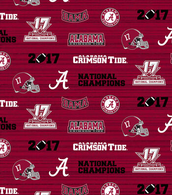 Alabama Crimson Tide 2017 Championship Cotton Fabric