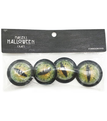 Maker's Halloween 4pc Googly Eyes-Dragon Small