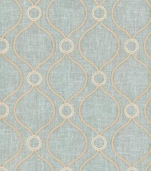 P K Lifestyles Lightweight Decor Fabric 58 Curveball Emb Seagl