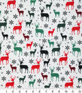 Christmas Cotton Fabric 43\u0022-Metallic Snowflakes