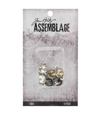 Tim Holtz Assemblage Links-Round Faceted Crystal