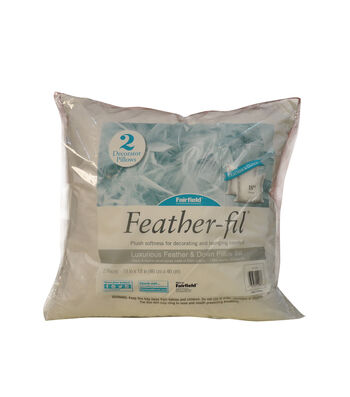 Fairfield Feather-fil Pack of 2 18''x18'' Pillow