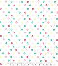 Doodles Christmas Interlock Cotton Fabric -Snowflake Sticker