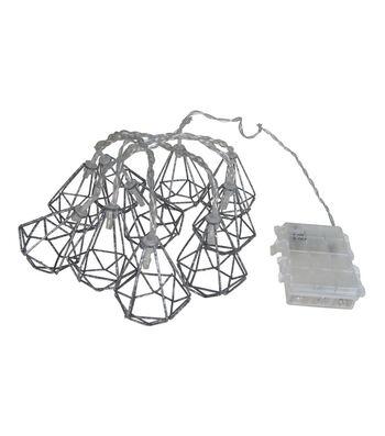 Seaport 65'' Galvanized Hexagon String Lights