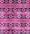 Snuggle Flannel Fabric -Pink Aztec