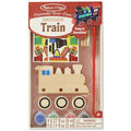 Melissa & Doug Decorate-Your-Own Wooden Kit-Train