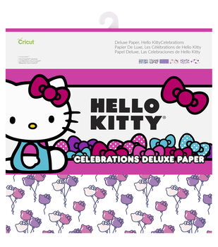 Cricut 12 Pack Hello Kitty Celebrations Deluxe Papers