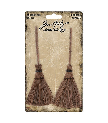 Tim Holtz Idea-ology Halloween-Broomsticks
